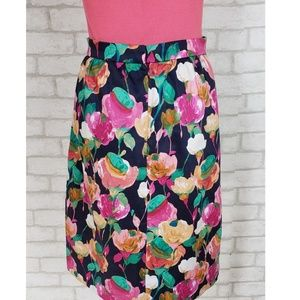 J. Crew Factory Skirts - J.Crew Blue & Pink Floral Pencil Skirt Size 00
